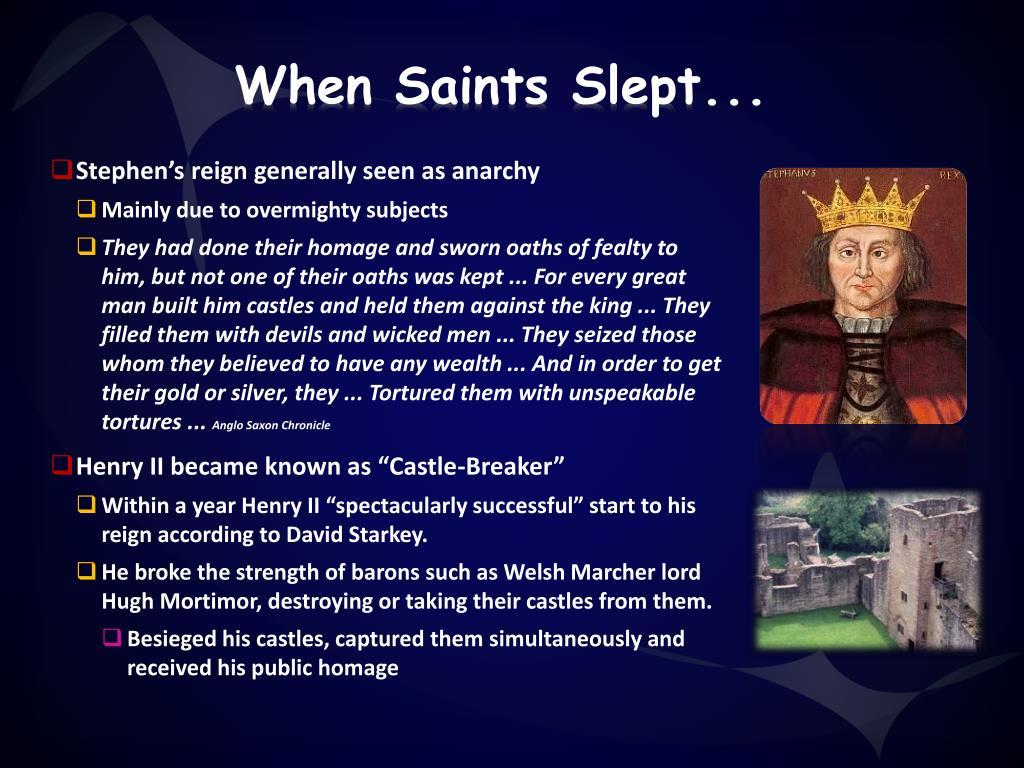 When Saints Slept...