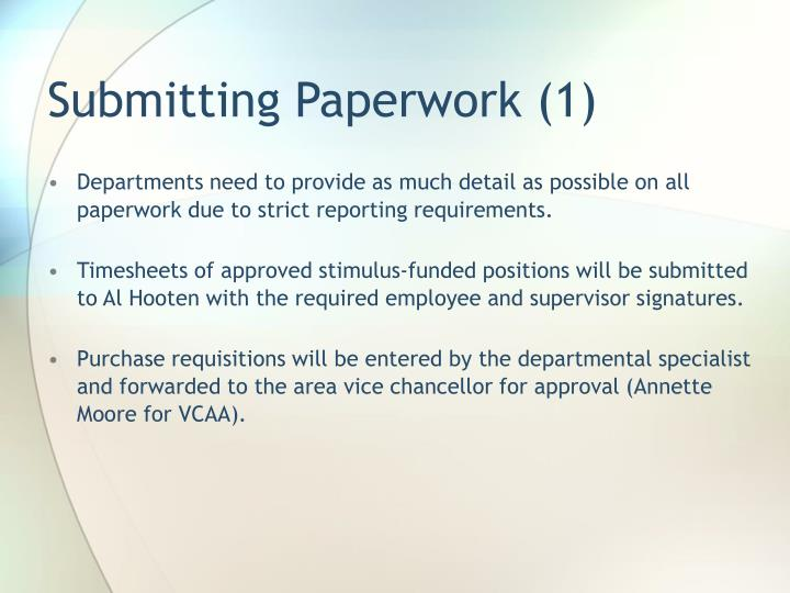 Submitting Paperwork (1)