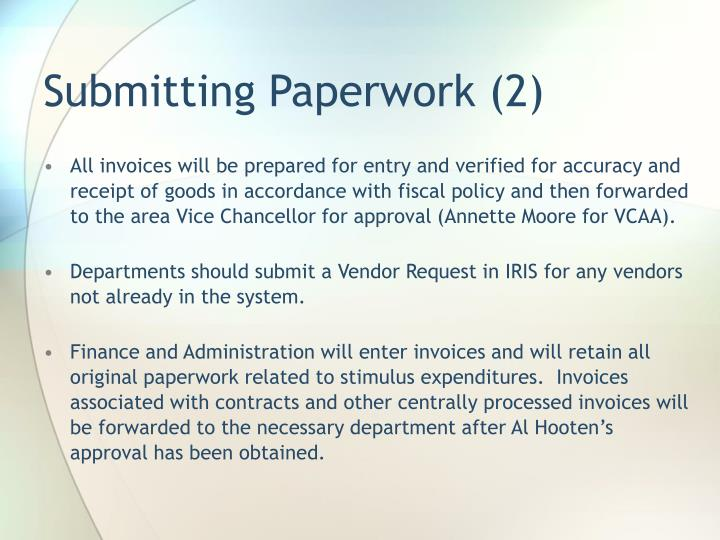 Submitting Paperwork (2)