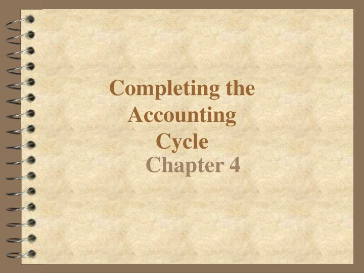 Completing the