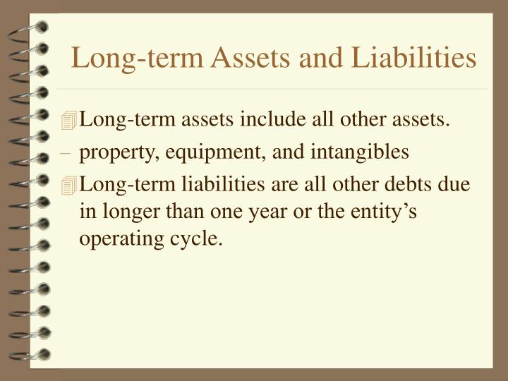 Long-term Assets and Liabilities