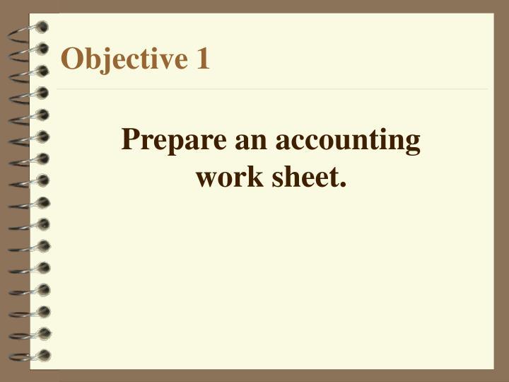 Prepare an accounting