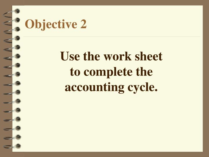 Use the work sheet