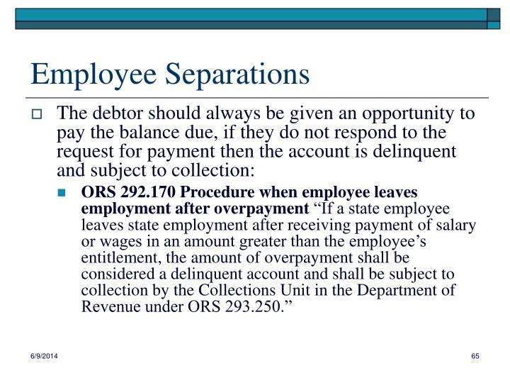 Employee Separations