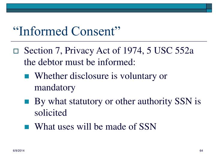 """""""Informed Consent"""""""