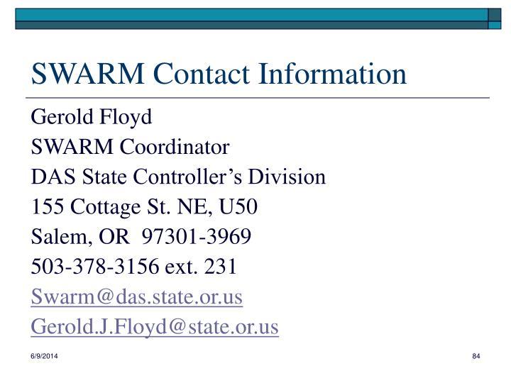 SWARM Contact Information