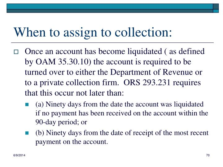 When to assign to collection: