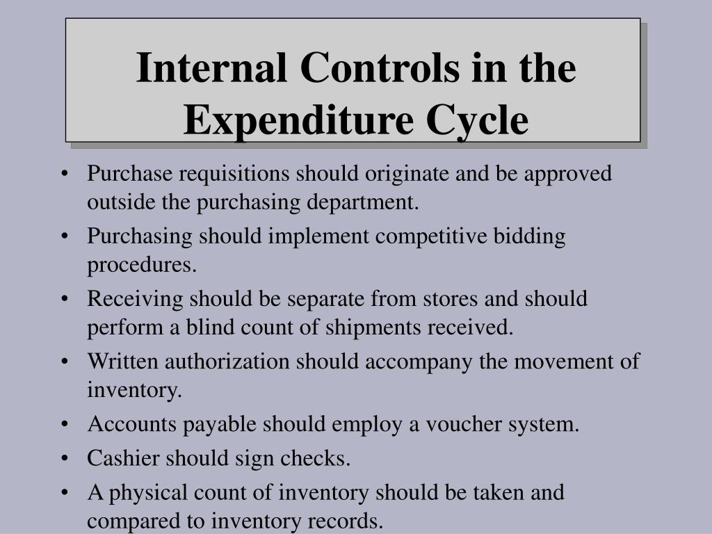 Purchase requisitions should originate and be approved outside the purchasing department.