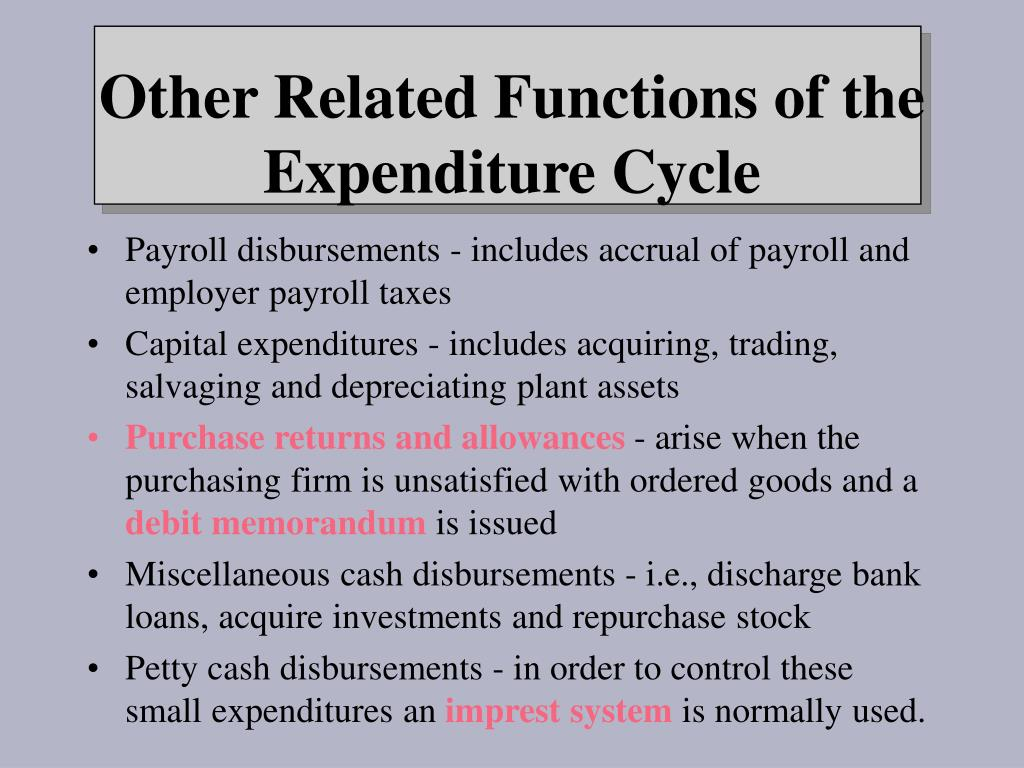Payroll disbursements - includes accrual of payroll and employer payroll taxes