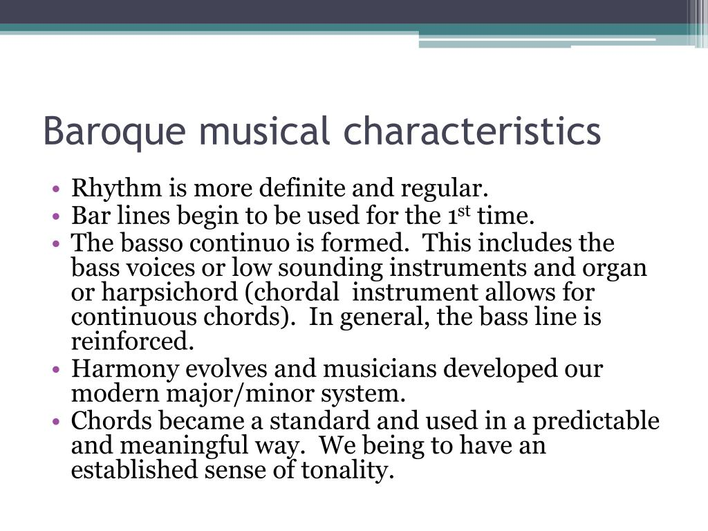 Ppt history of music powerpoint presentation id 206292 for Baroque style characteristics
