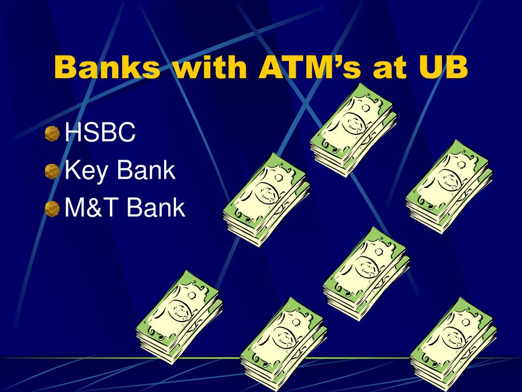 Banks with ATM's at UB