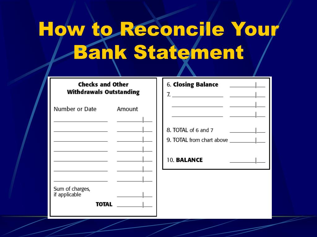 How to Reconcile Your Bank Statement