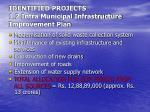identified projects 1 2 intra municipal infrastructure improvement plan