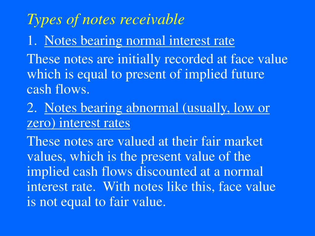 Types of notes receivable