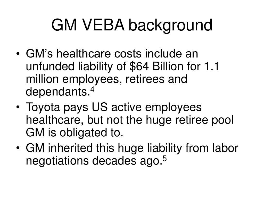 GM VEBA background