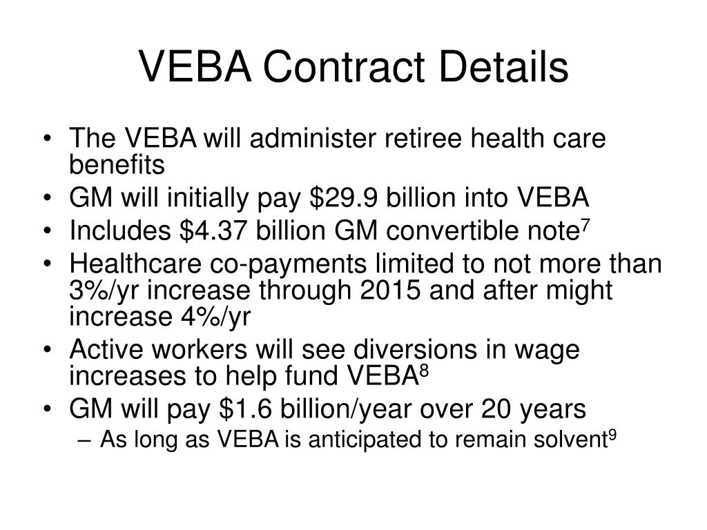 VEBA Contract Details