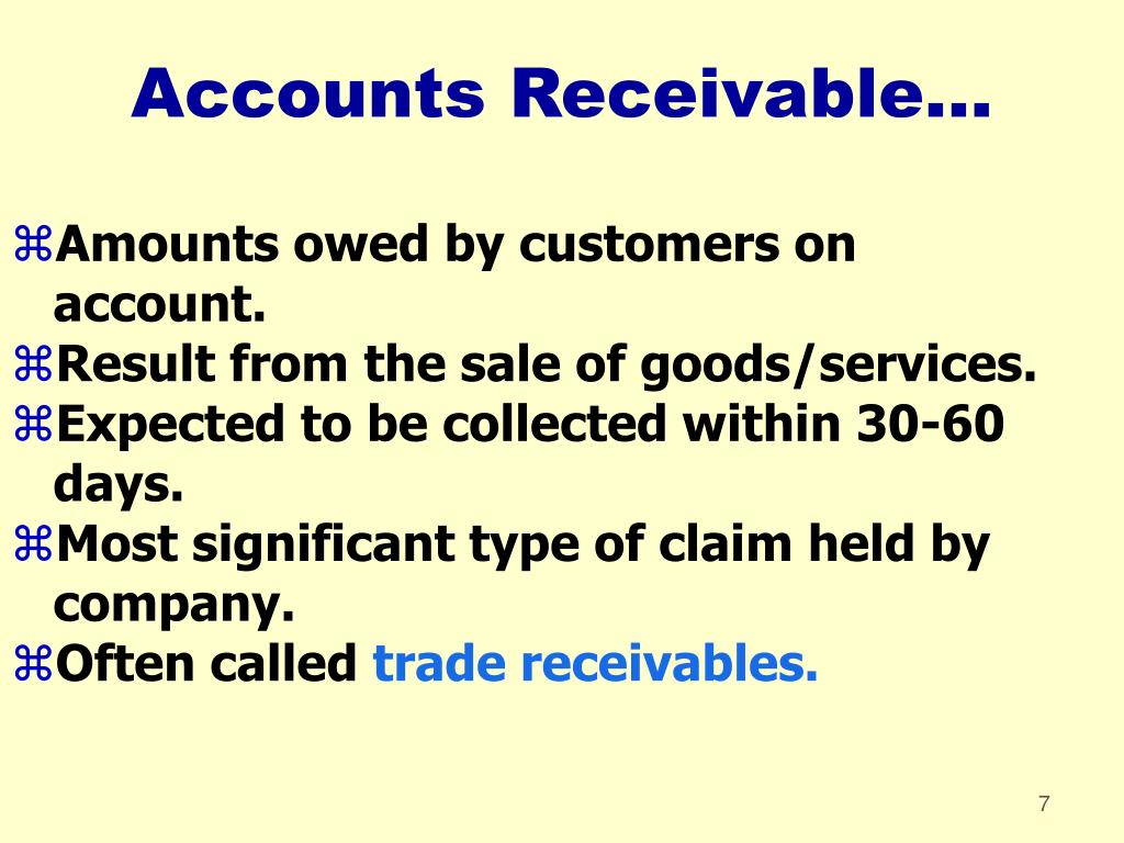 Accounts Receivable...