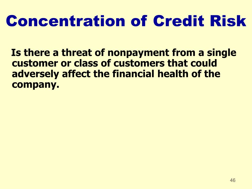 Concentration of Credit Risk