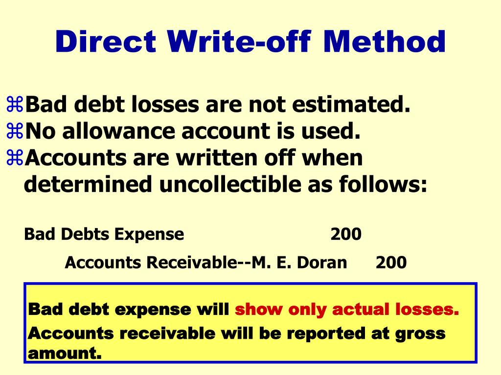 Bad debt expense will