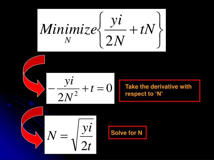 Take the derivative with respect to 'N'