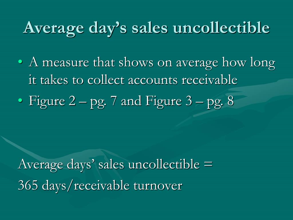 Average day's sales uncollectible