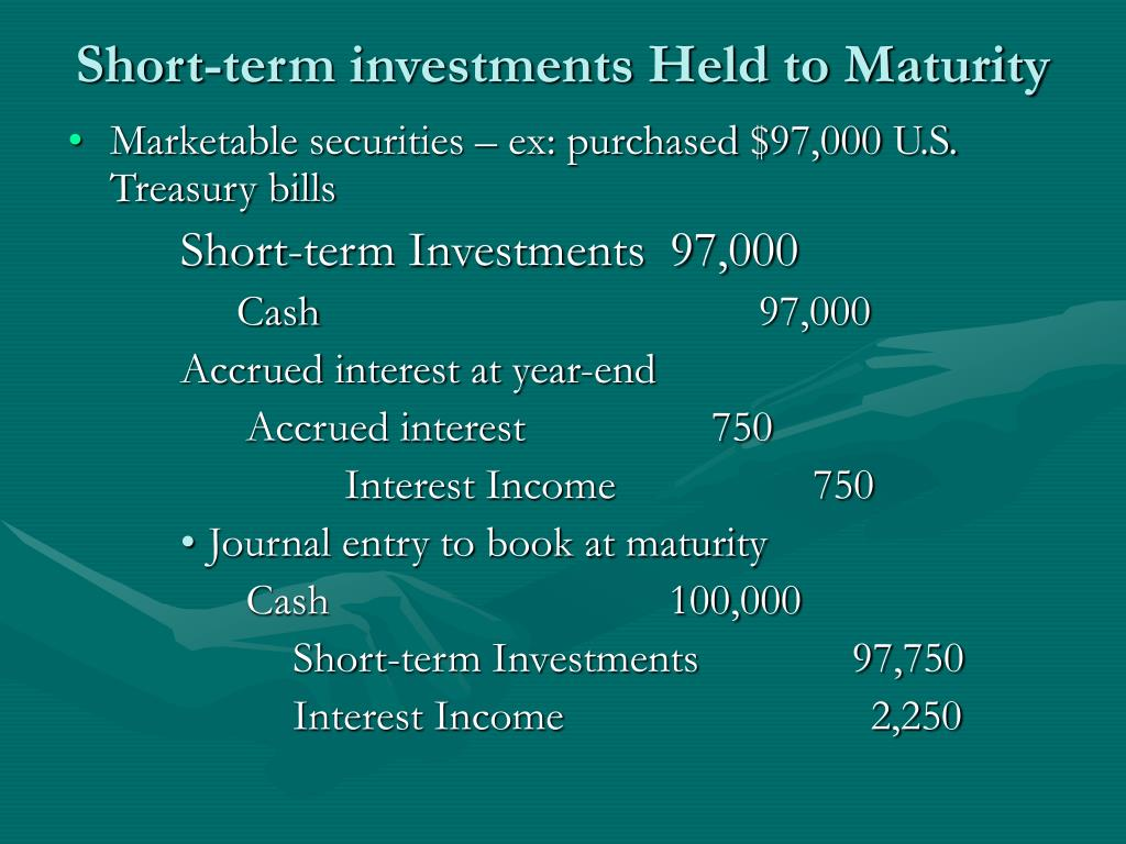 Short-term investments Held to Maturity