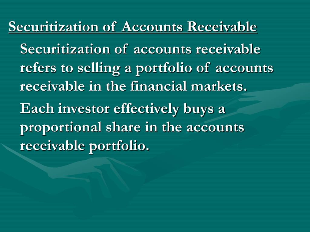 Securitization of Accounts Receivable
