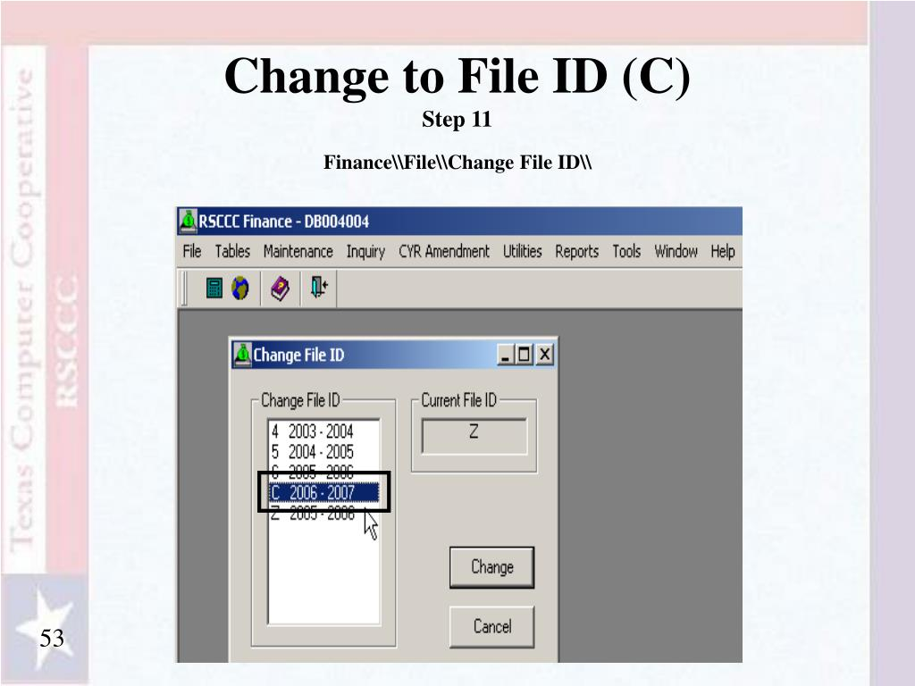 Change to File ID (C)