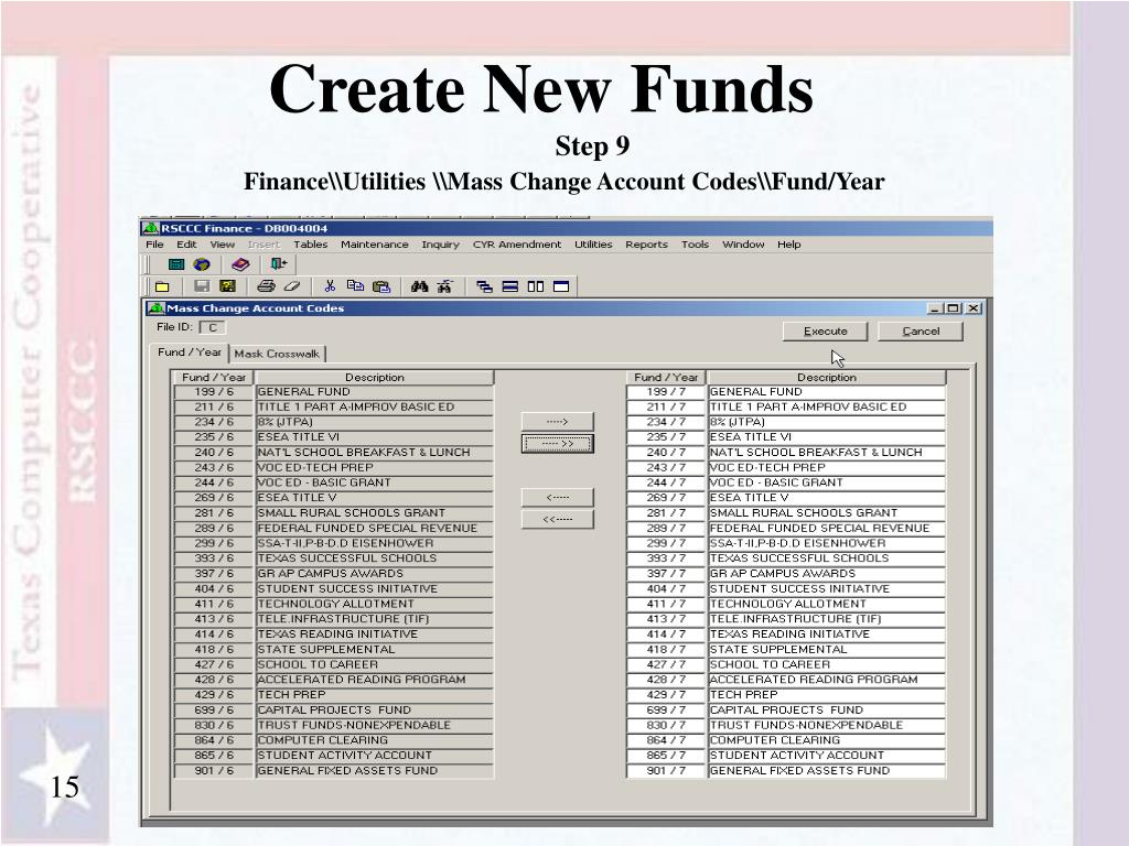 Create New Funds