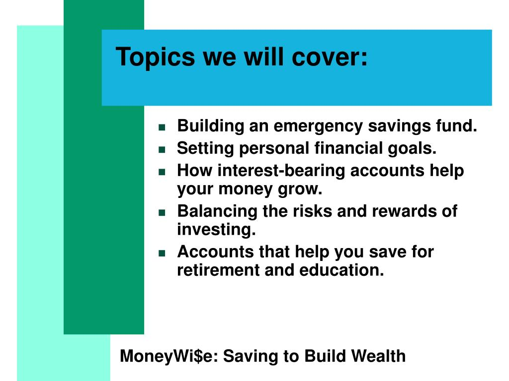 Topics we will cover:
