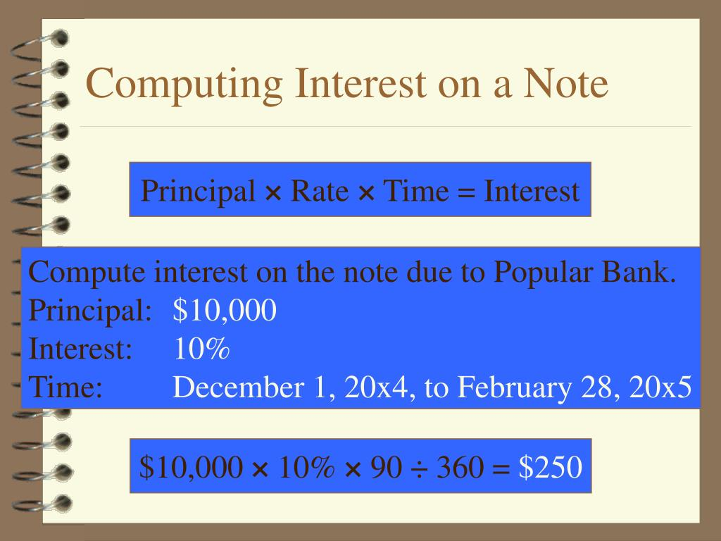 Computing Interest on a Note