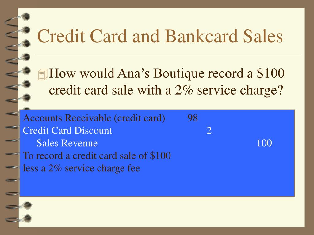 Credit Card and Bankcard Sales