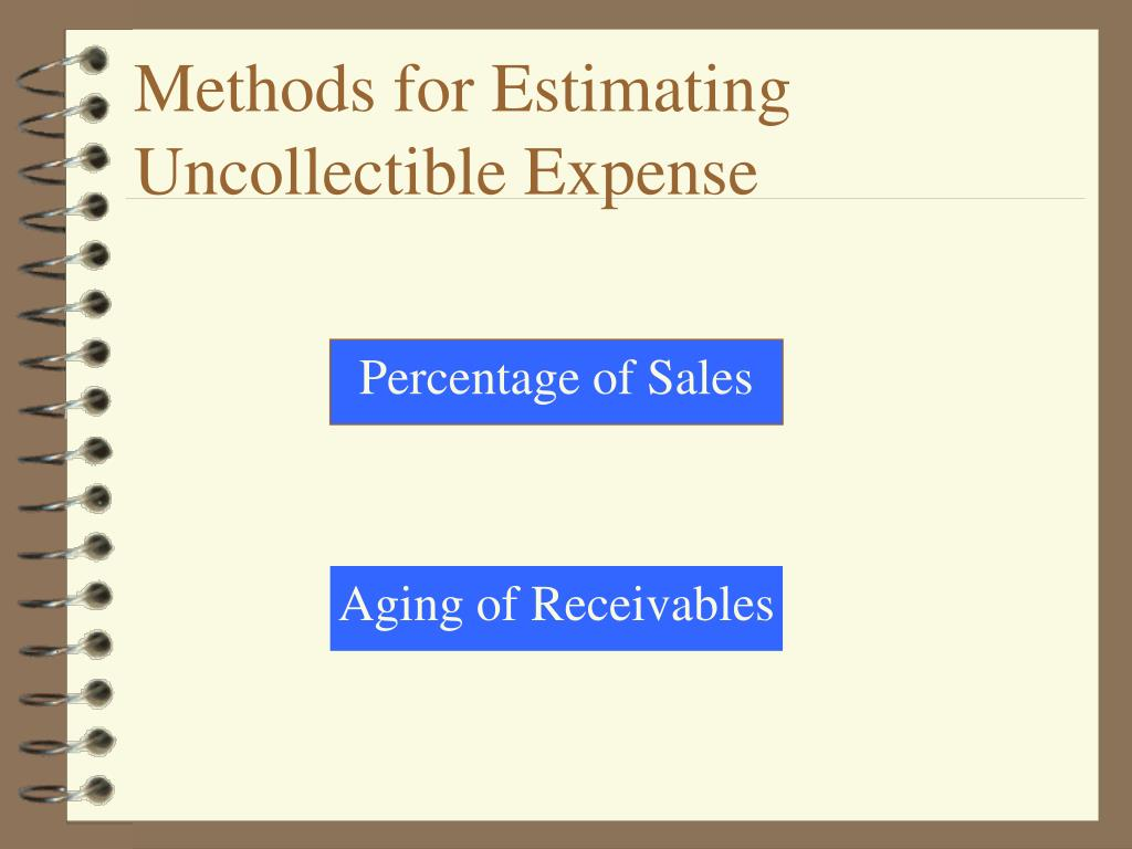 Methods for Estimating Uncollectible Expense