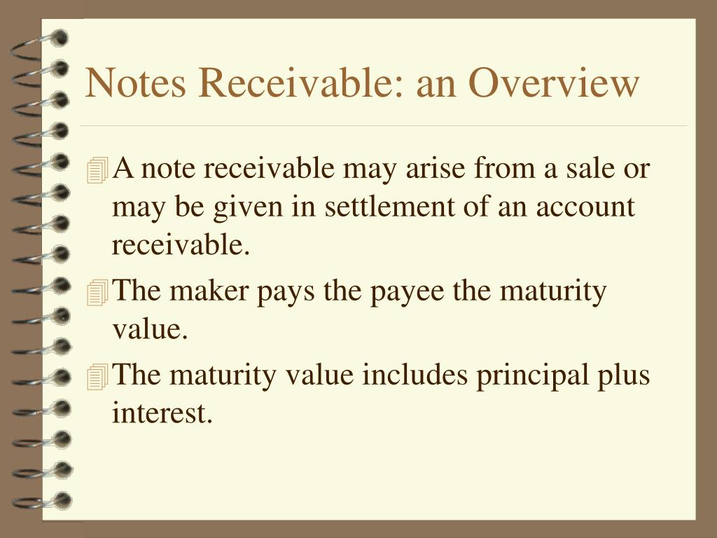 Notes Receivable: an Overview