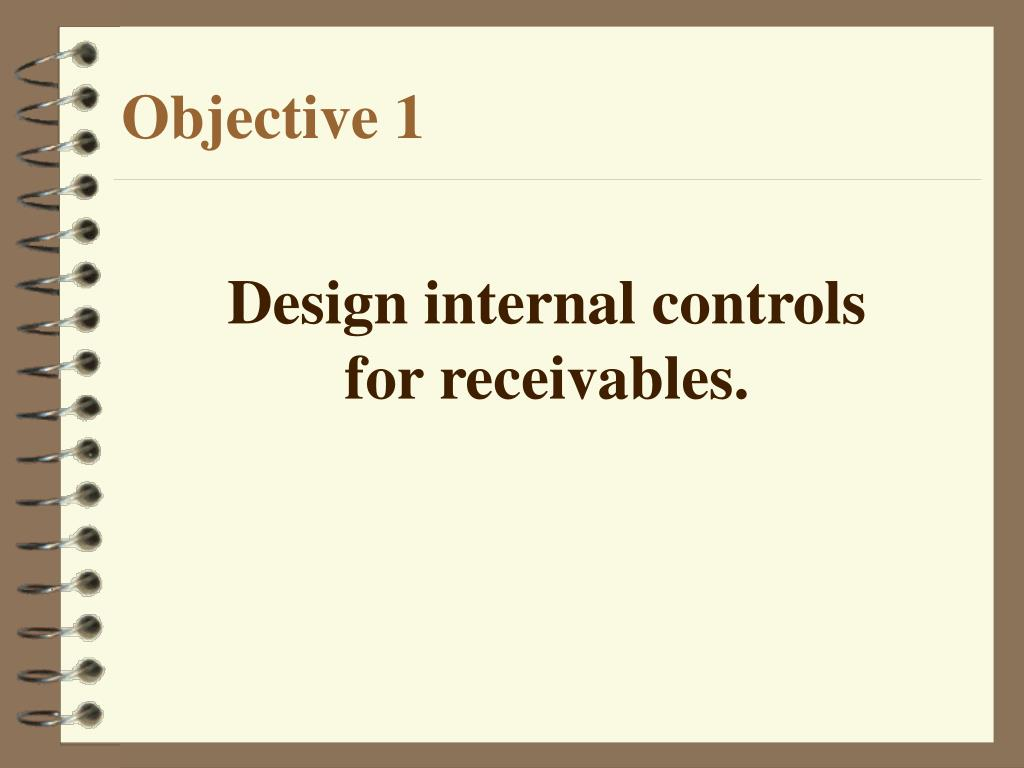 Design internal controls
