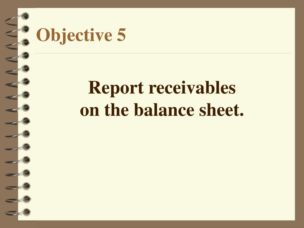 Report receivables