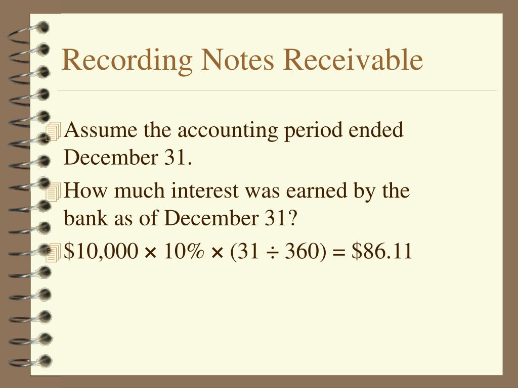 Recording Notes Receivable