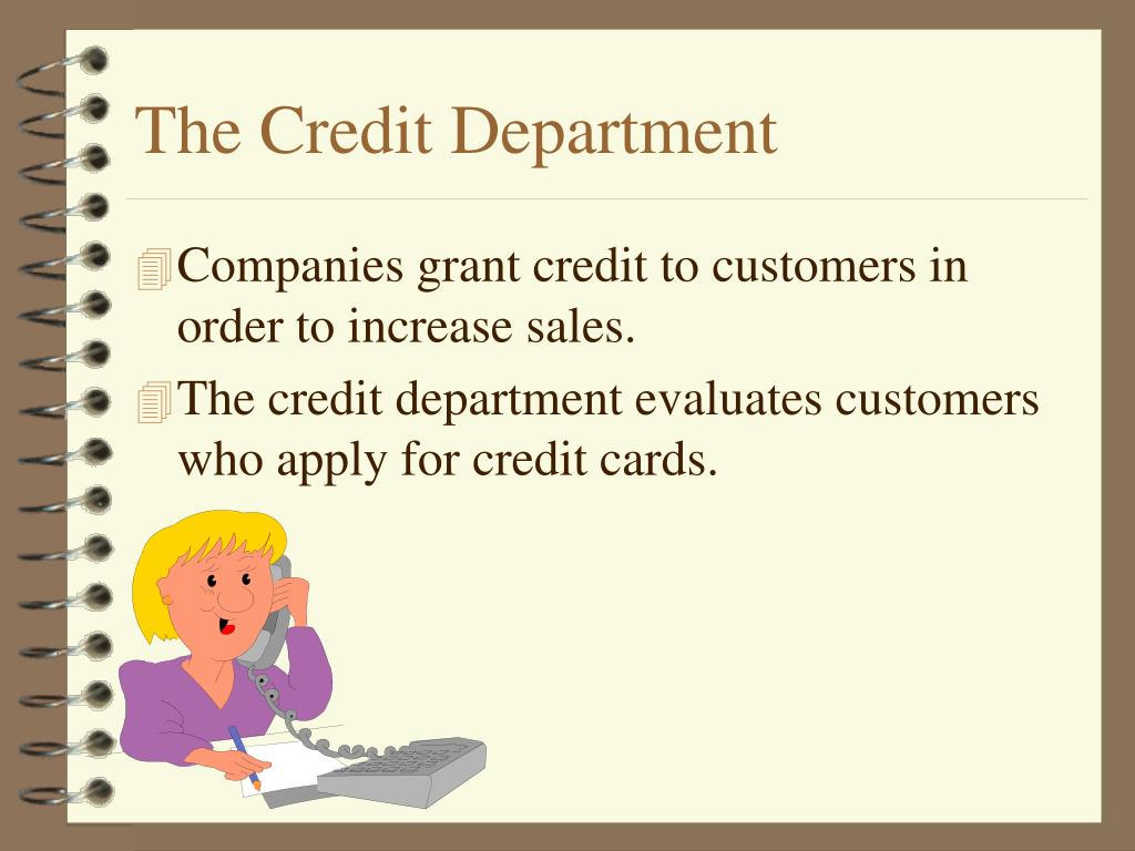 The Credit Department
