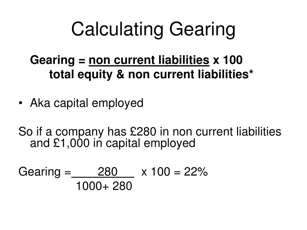Calculating Gearing