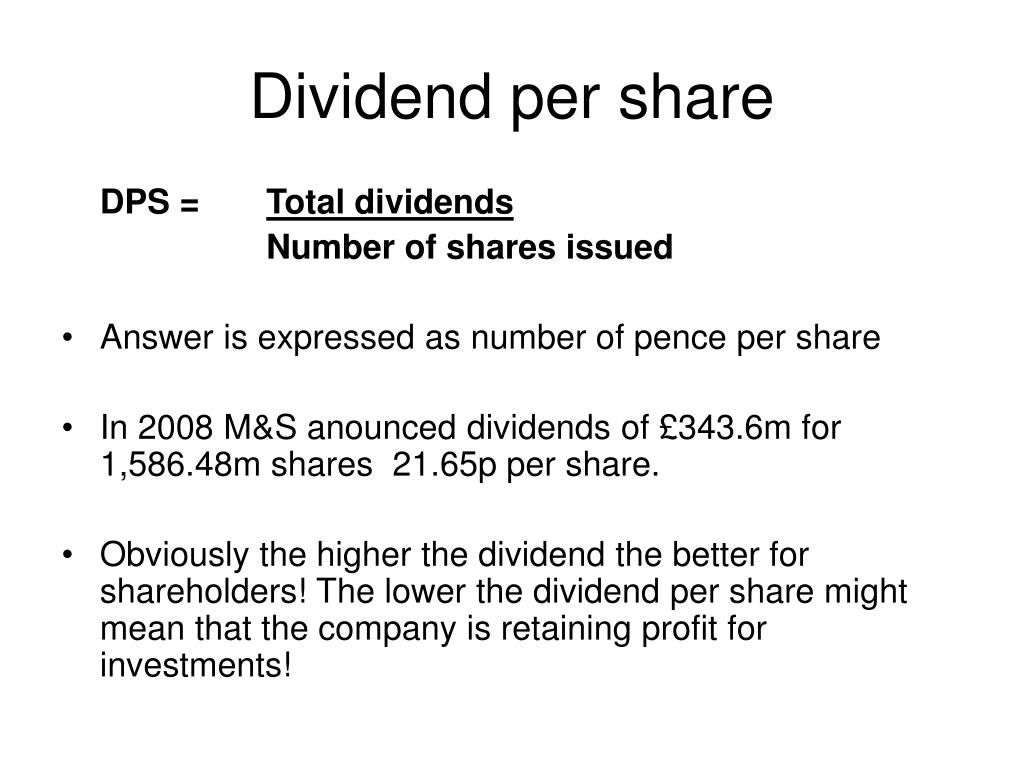 Dividend per share