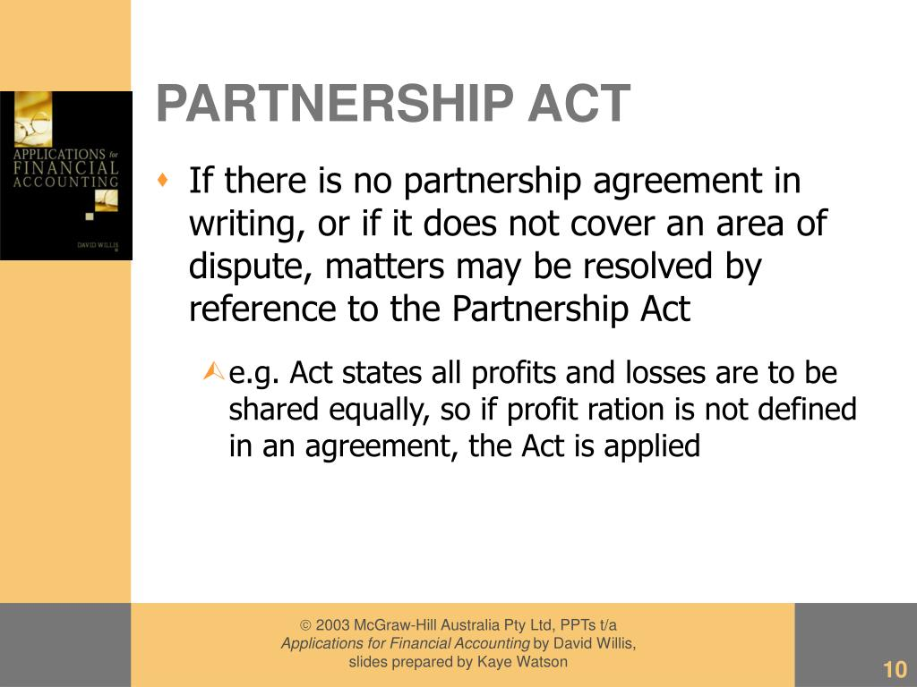PARTNERSHIP ACT