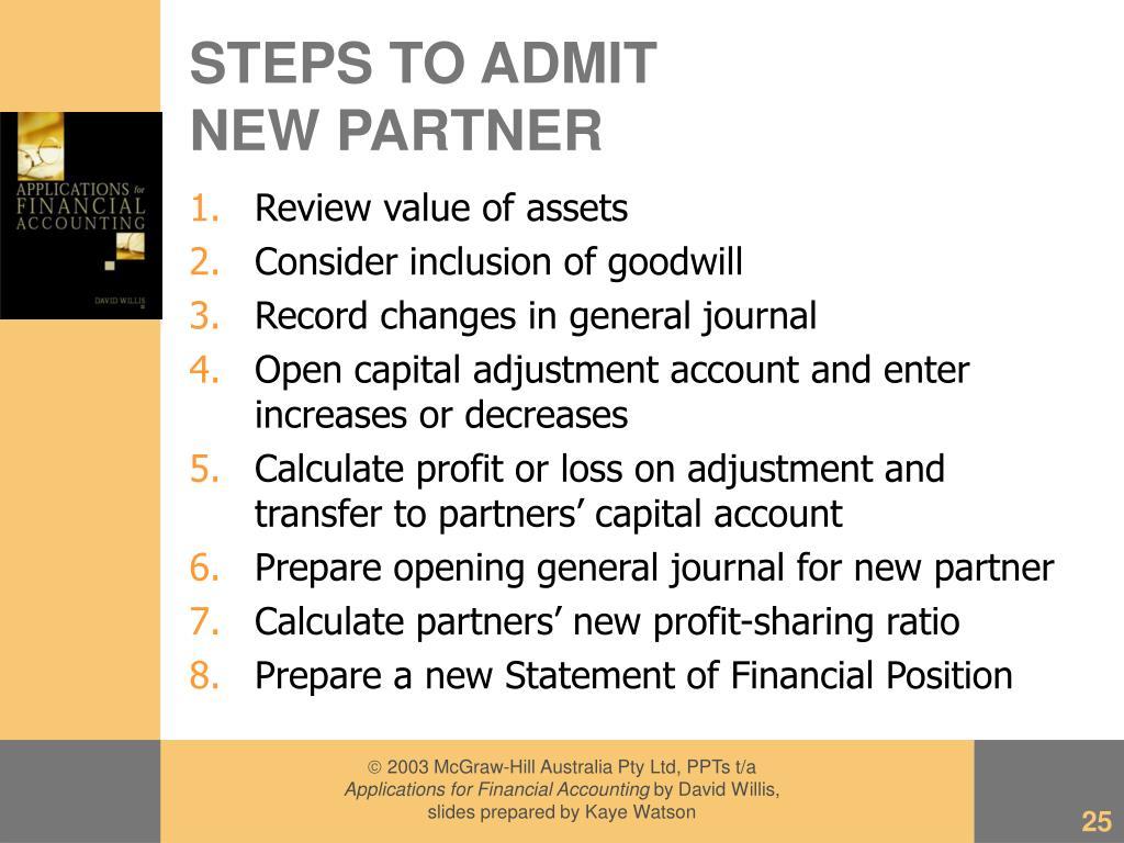 STEPS TO ADMIT