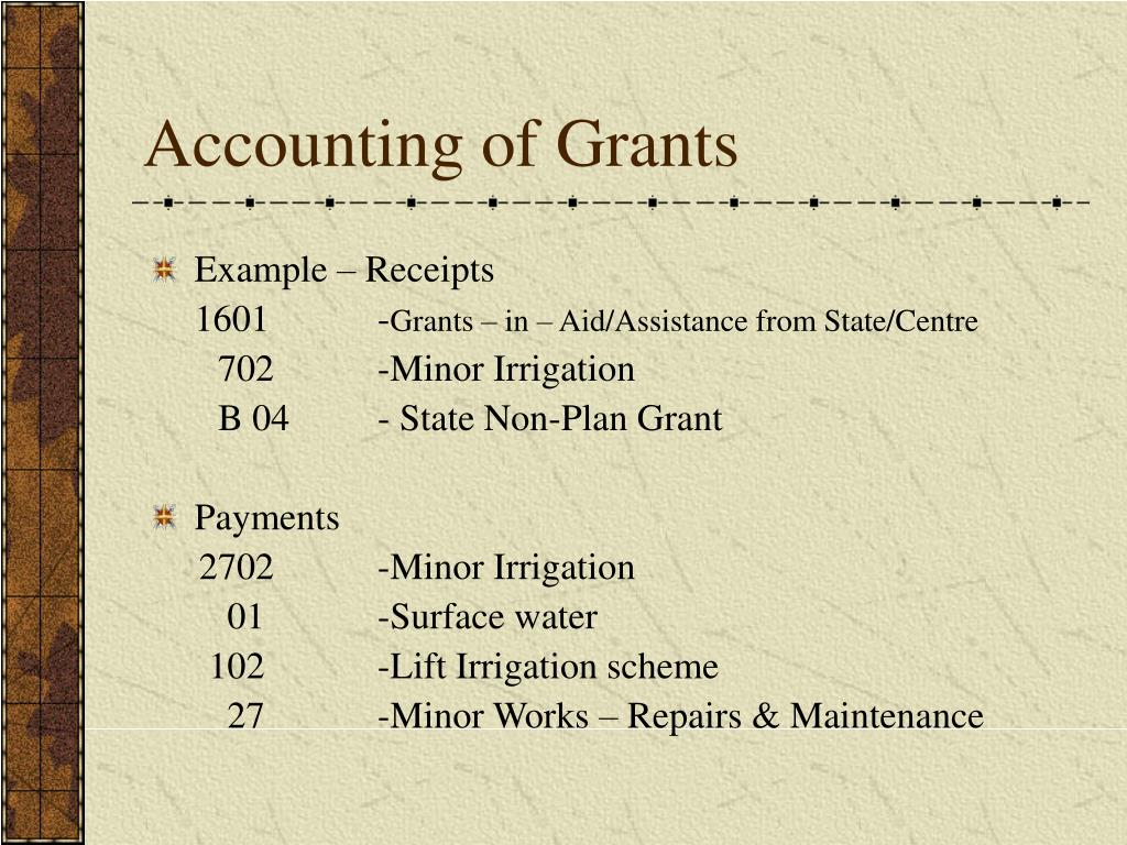 Accounting of Grants