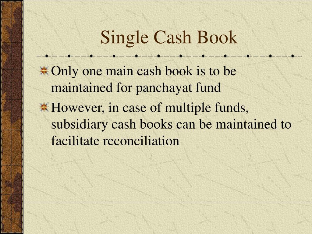 Single Cash Book