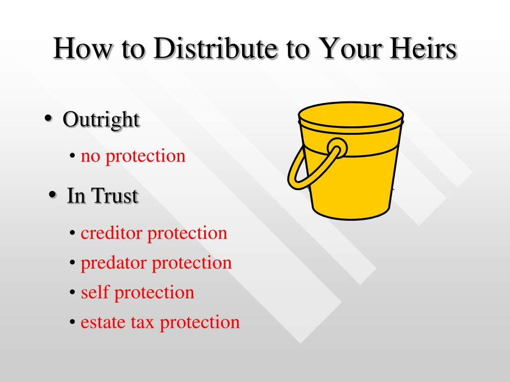 How to Distribute to Your Heirs