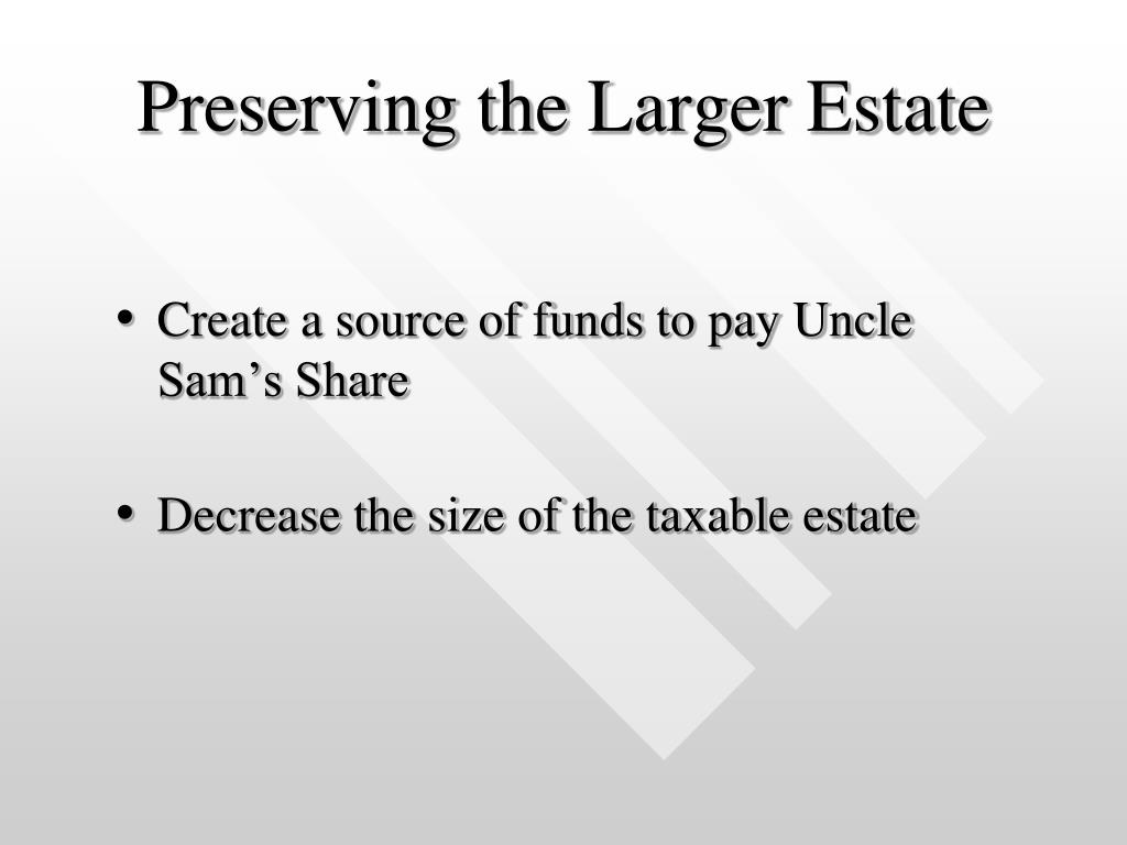 Preserving the Larger Estate