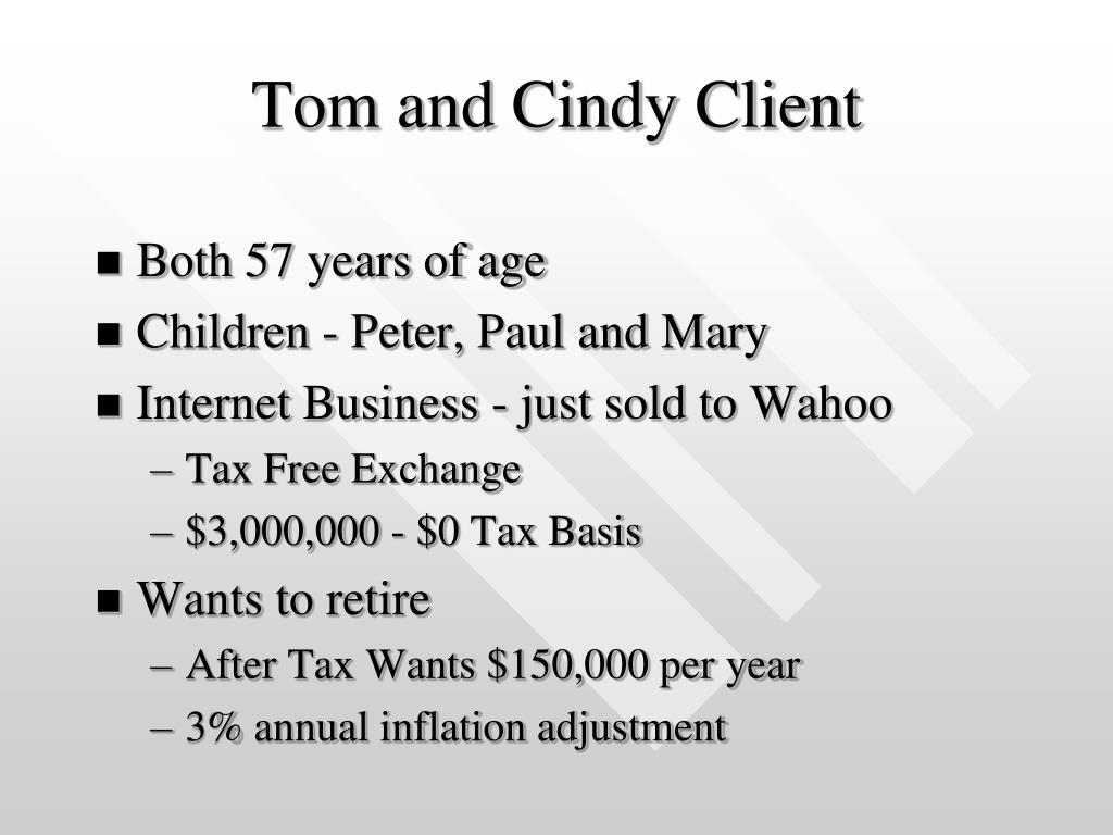 Tom and Cindy Client