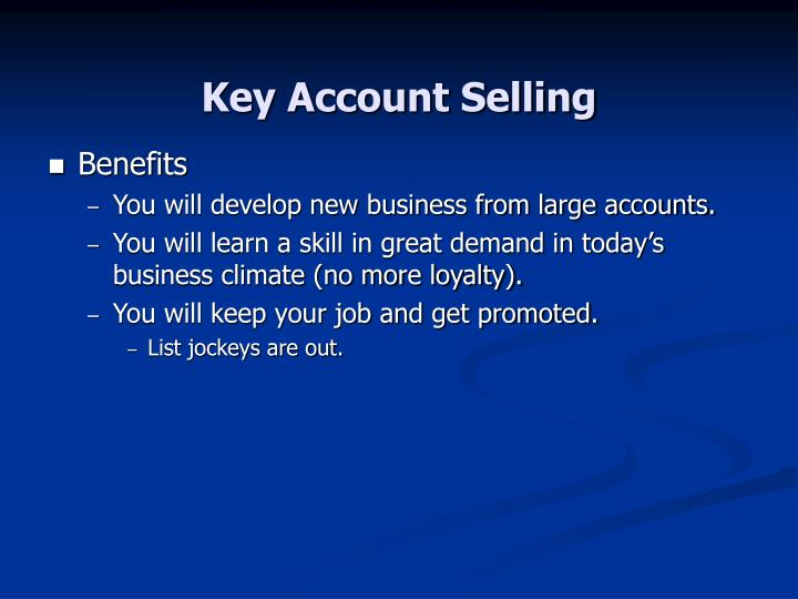 Key account selling3