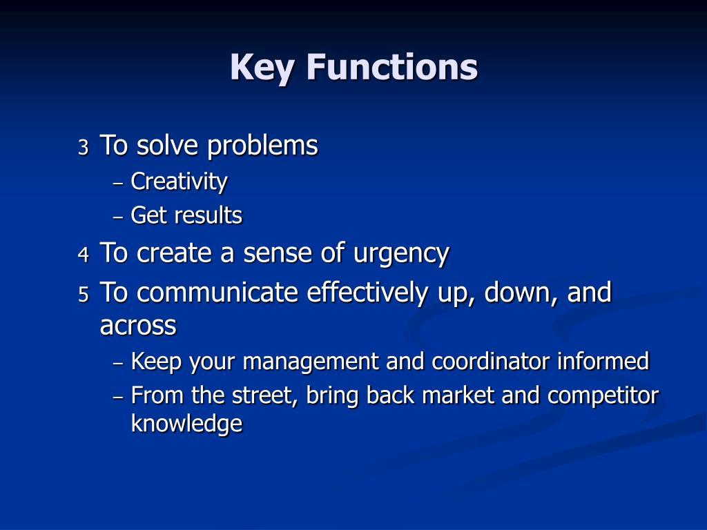 Key Functions