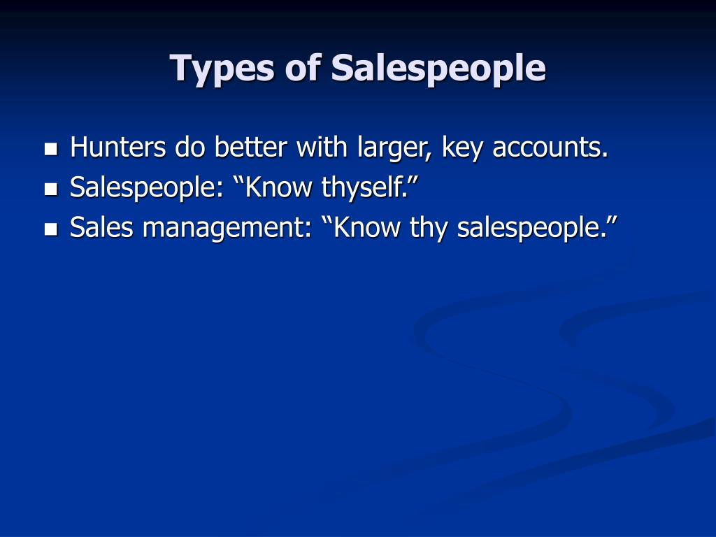 Types of Salespeople